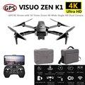Visuo ZEN K1 Радиоуправляемый Дрон с GPS 4K Квадрокоптер с камерой управление жестами Квадрокоптер Flight 28mins следить за мной Дрон VS F11 B4W SG906