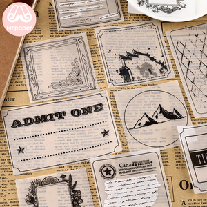 Mr Paper 30pcs/lot 8 Designs Transparent Sulfate Butter Paper Memo Pads Loose Leaf Notepad Diary Creative Writing Note Memo Pads