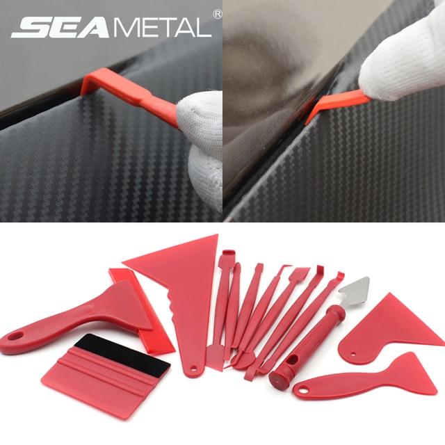 Interior do carro raspador de vinil auto painel adesivo filme embrulho ferramentas universal auto feltro rodo raspador faca decalque plaste