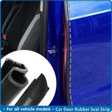 2Pcs Rubber Seal Strip Car Door Weatherstrip Car Door Edge Rubber Sealing For Car B Pillar Protection Sticker Front Auto Door