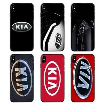 Kia Logo coreano marcas de coches para iPhone 4 4S 5 5S 5C SE 6 6S 7 8 Plus X XR XS Max iPod Touch 4 5 6 accesorios fundas de teléfono