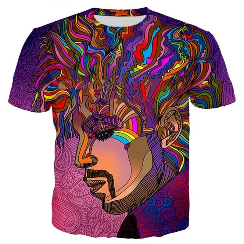 Imagem de fundo 3d impressão colorida trippy verões de moda hip hop expresso t quente kids-6XL