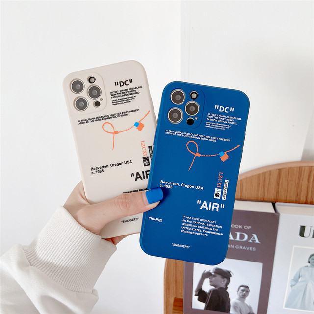 Hot Tides brand sneakers Phone Case For iPhone 12 mini 11 Pro X XR XS MAX 7 8 6 Plus Simple label letter Silicone Cover Coque 3