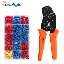 sn-02c Crimping Pliers and 280pcs Assorted Full Insulated Fork U-type Set Terminals Connectors kit