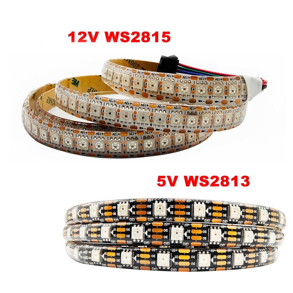 Светодиодная лента WS2815 , индивидуально Адресуемая, 5 в пост. Тока, WS2813/WS2812 , 5050SMD , двойной сигнал, IP65 Водонепроницаемость