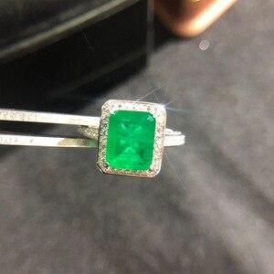Image 2 - וונג גשם בציר 925 סטרלינג כסף אמרלד חן יהלומי חתונת אירוסין טבעת תכשיטים סיטונאי Drop חינם