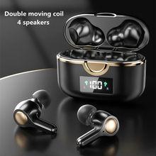 Nieuwe Tws Draadloze Koptelefoon Bluetooth 5.0 Hoofdtelefoon In Oor Touch Control Sport Oordopjes Hd Stereo Ruisonderdrukking Headset Met Microfoon