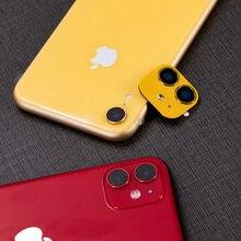 Funda protectora para iPhone XR, pegatina de lente para iPhone 11, Protector de lujo de aluminio y Metal para cámara