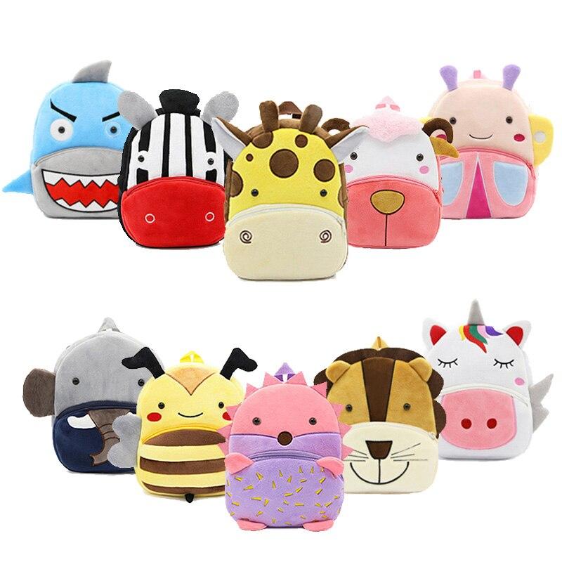 Baby Plush Backpack Animal School Bags Cartoon Cute Plushback Children Bag Kindergarten Schoolbag Kids Backpack