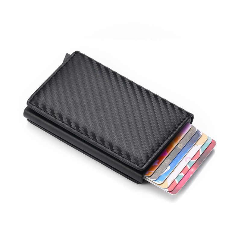 DIENQI Rfid Brieftasche Kreditkarte Halter Business id Karte Tasche Tasche Fall Bargeld Kreditkarte Pass Metall Carbon Karteninhaber Schutz