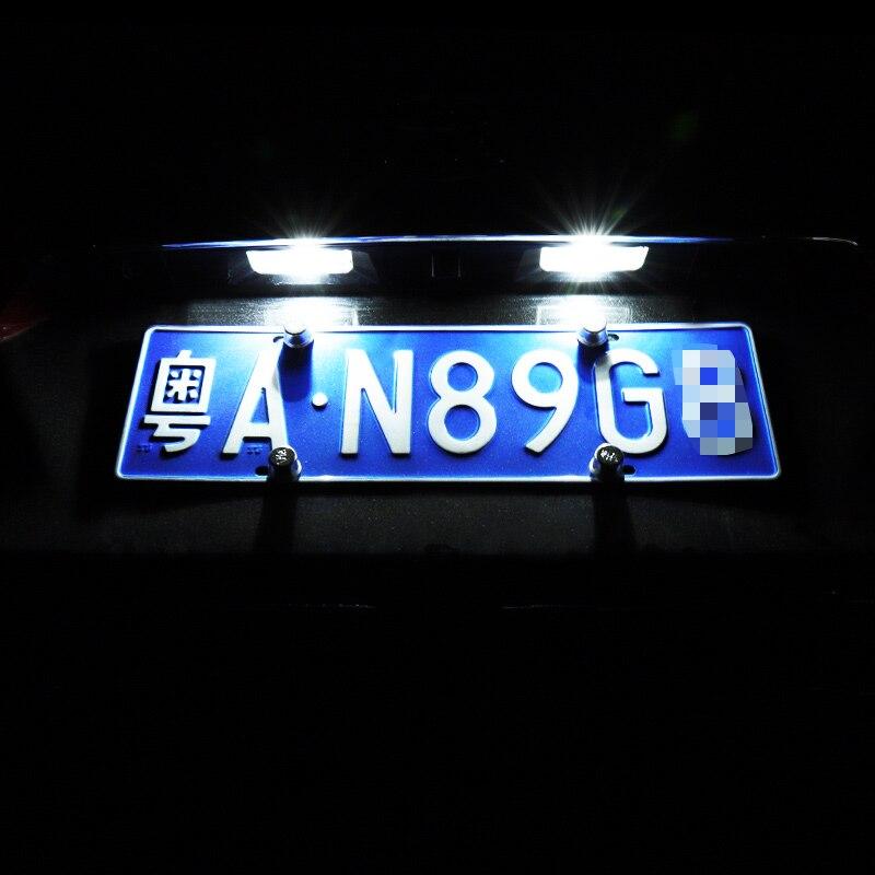 For Toyota ALPHARD 2008-2015 Car License Plate Light LED Rear License Plate Light Decorative Light 6W 6000K