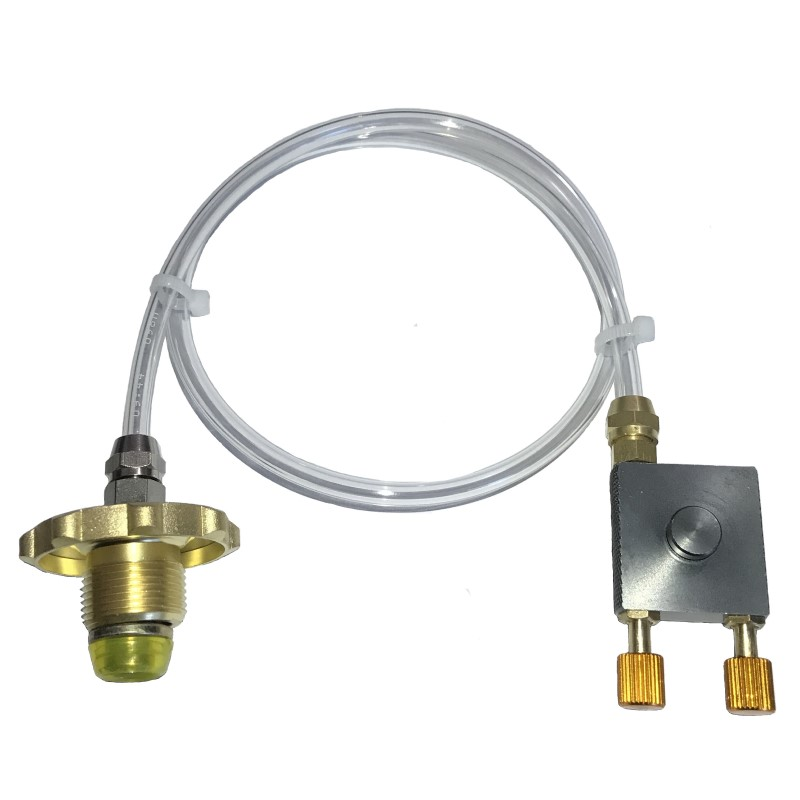 Propane Gas Refill Pipe Valves Coupler For Outdoor Camping Picnic Cooker Stove