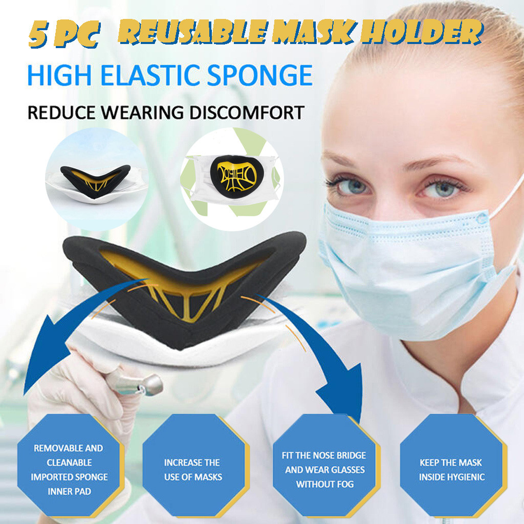 Mask Filter 5pc Mask Inner Pad Filter Dust-proof Inner Pad Holder Reusable Mask Holder Paper Health Care Mouth-muffle Mask
