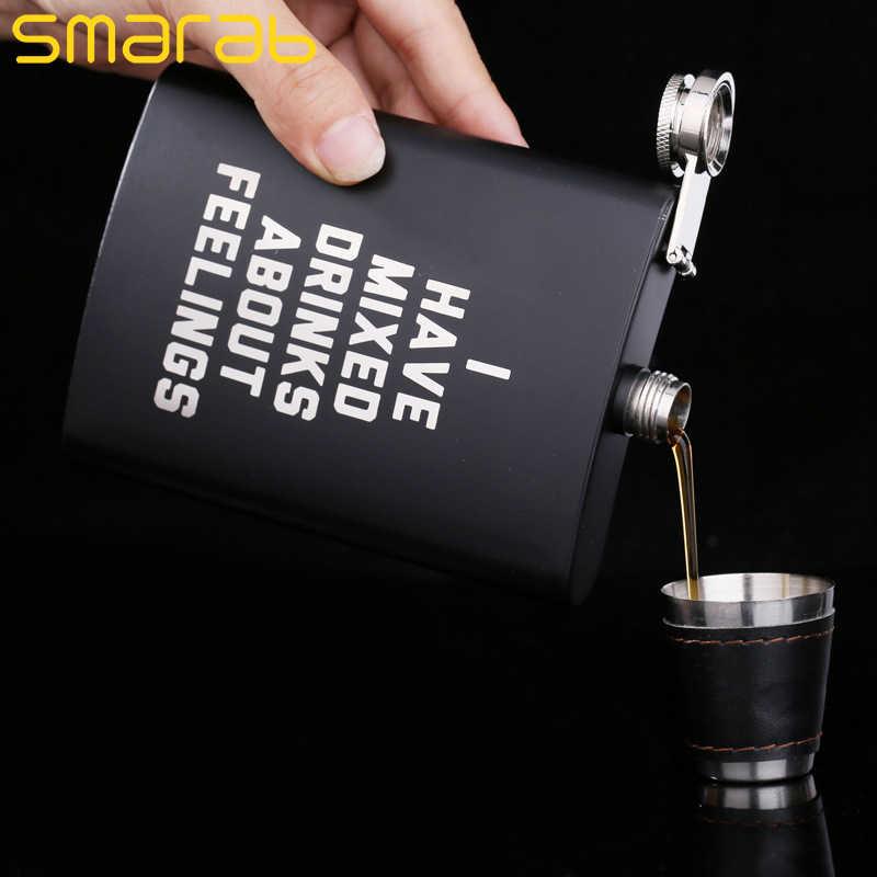 ポケットポータブルステンレス鋼のヒップフラスコ 8 オンスワインマグウイスキーボトルミニ箸置きアルコールボトルため酒飲み男性ギフト