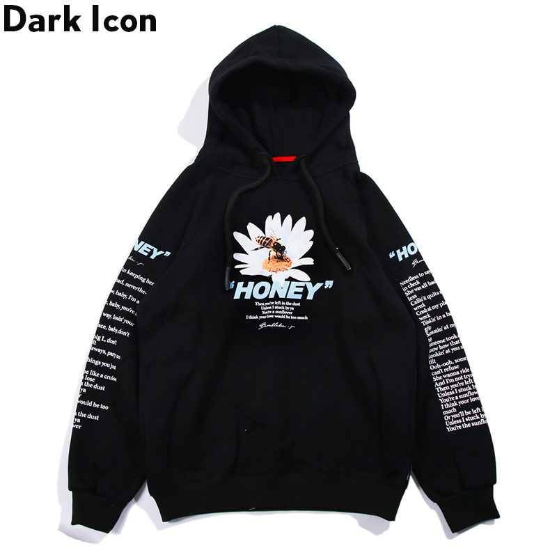 Dark Icon Daisy Fleece Hoodie Men Women Printing Hip Hop Hoodies 2019 Winter Street Men's Sweatshirts and Hoodies