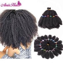"""Amir Mega Hair włosy syntetyczne skręt Afro 14 """"warkocz dla czarnych kobiet przedłużanie włosów"""