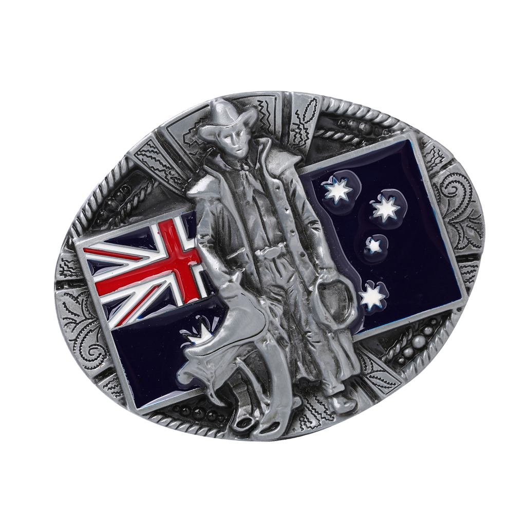 Knight Belt Buckle Western UK Cowboy Australian Flag Pattern Belt Buckles Uk Flag Leather Belt Buckle