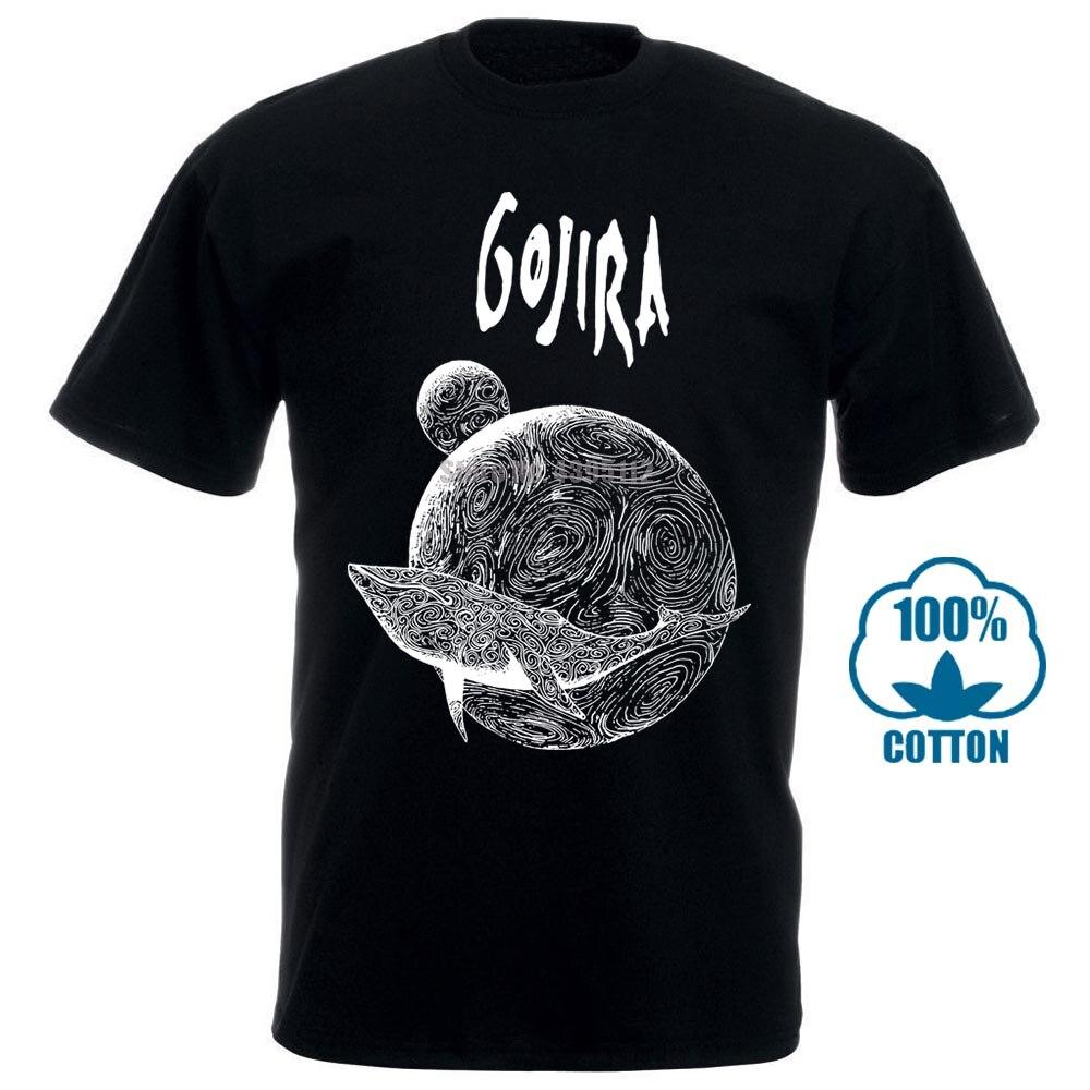 Gojira Flying Whale T Shirt Large Short Sleeves Fashion T Shirt Drop Shipping 012027