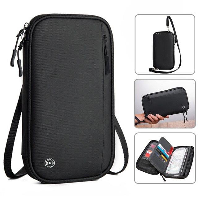 Acoki Travel Wallet, Family Passport Holder, Travel Documents Organizer, Durable Passport Case with RFID Blocker for Men, Women. 1