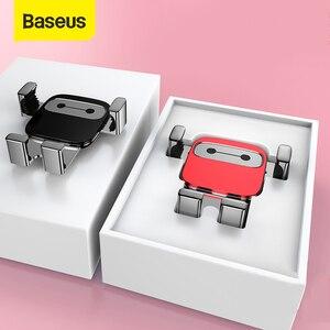 Image 1 - Baseus Auto Halter für Telefon Schwerkraft Handy Stehen Unterstützung Halter in Auto Air Vent Halterung für iPhone Samsung Auto telefon Halter