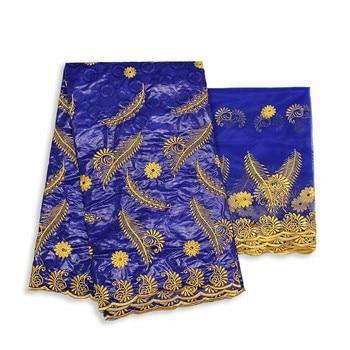 Nigerian bazin riche getzner 2020 African lace fabric brode bazin riche fabric latest jacquard brocade fabric 5+2yards  ky66-878