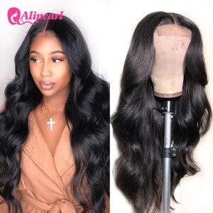 Ali Pearl Hair Body Wave 4x4 Closure Wig For Black Women Peruvian Lace Front Closure Human Hair Wigs Pre Pluck AliPearl Hair Wig(China)