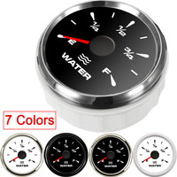 7 Colors 52mm Marine Boat Water Level Gauge Liquid Empty  Full water level indicator meter auto gauge moto instrument 9 32V|Water Temp Gauges|Automobiles & Motorcycles -