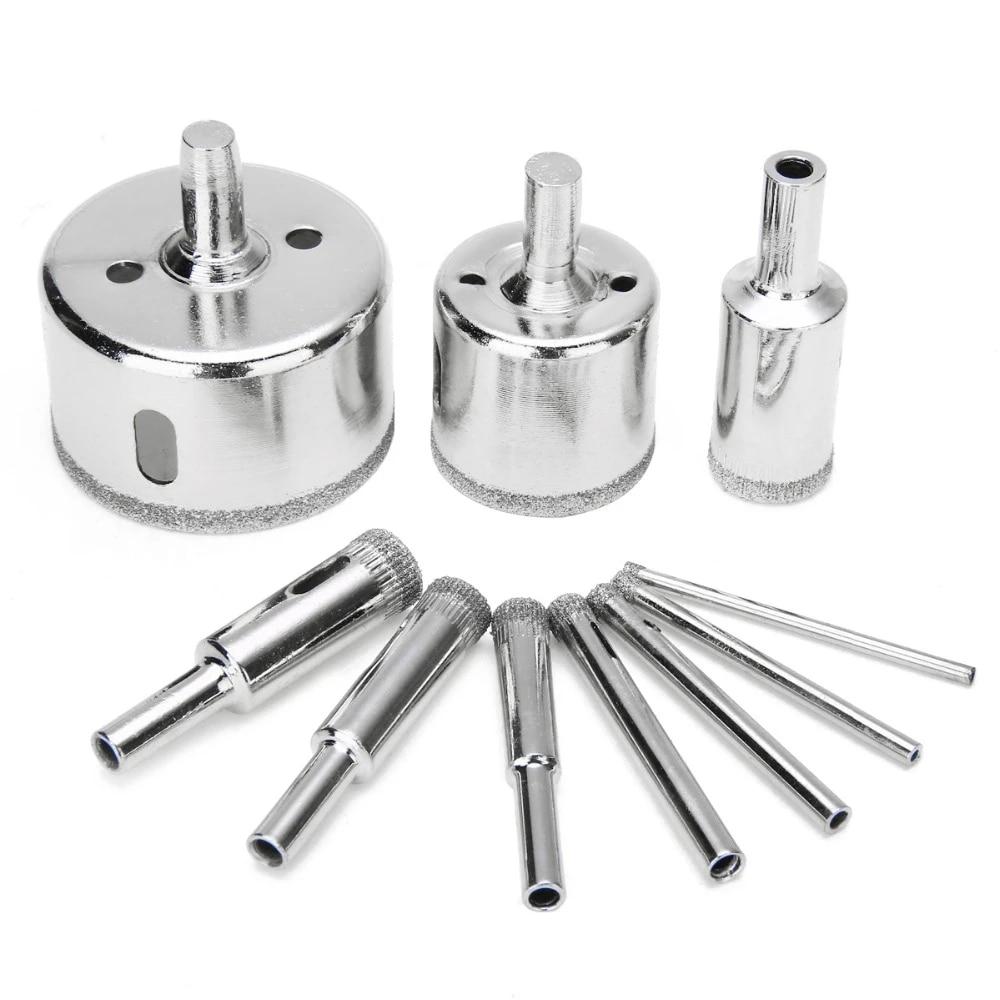 Forets en verre diamantés scie cloche pour outils de forage de douche de salle
