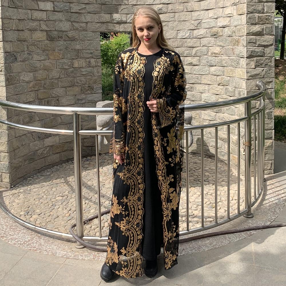 Ramadan Eid Mubarak Abaya Turkey Kimono Cardigan Hijab Muslim Dress Islam Clothing African Dresses Abayas For Women Dubai Kaftan(China)