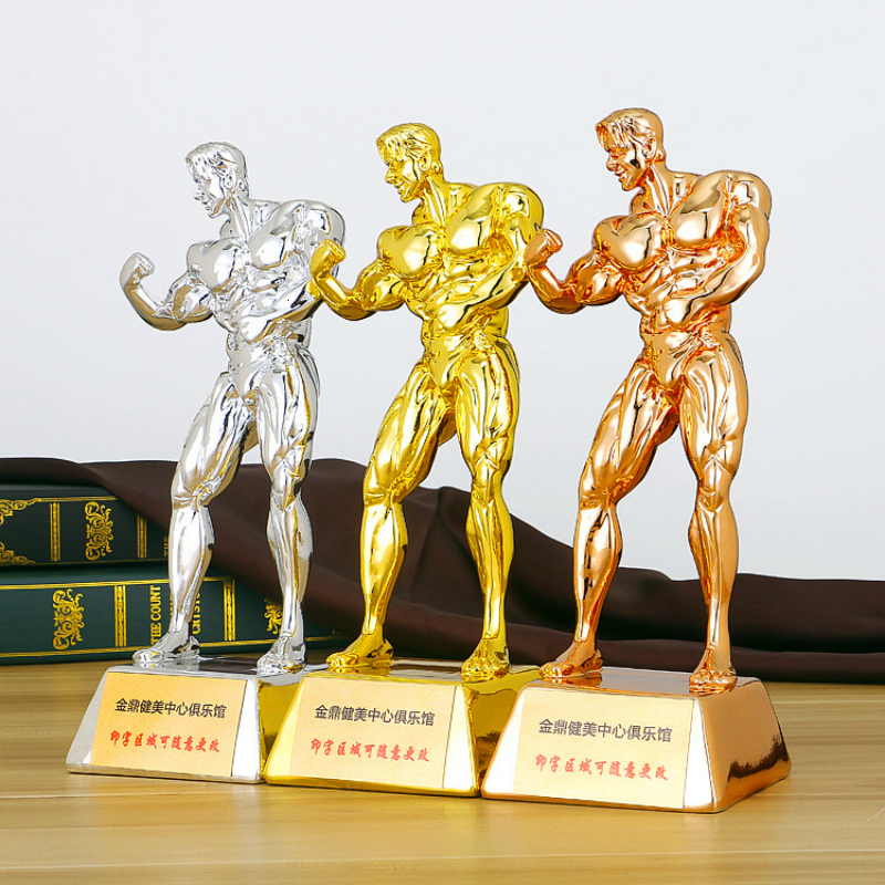Best Muscular Man Fitness Trophy Cup Customized Bodybuilding Competition Champion Trophies And Awards Event Awards Souvenir Gift