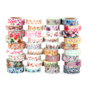 Image 4 - 527 designs 30pcs/lot hot sale floral,cartoon, black ,lover cat Washi Tape DIY masking  Adhesive washi Tape lot 10m,5m