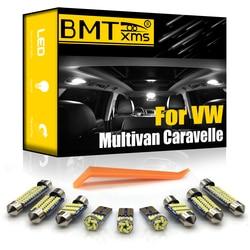 BMTxms For Volkswagen VW Multivan Caravelle MK5 MK6 T5 T6 2003-2018 Vehicle LED Interior Footwell Light Kit Canbus