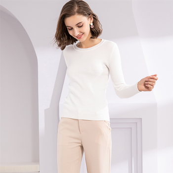 Ailegogo New 2020 Women's Autumn Winter Casual Knitwear Warm Pullover Minimalist Elegant Pink Ladies Jumpers SW1046 2