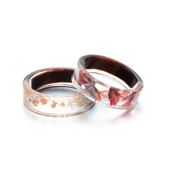 2020Ho Handmade Wood Resin Ring Flowers Plants Inside Jewelry Landscape Transparent Resin Ring Romantic Fashion Anniversary Ring resin rings dried flower transparent women handmade ring charm men vintage wedding ring party jewelry romantic couple ring