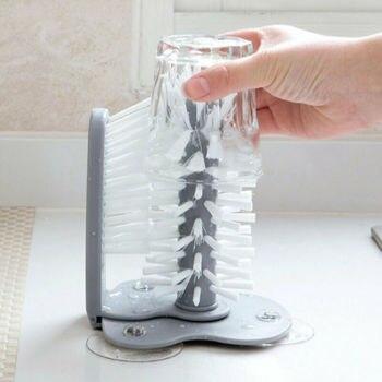Вращающееся моющее блюдо 2 в 1 щетка присоска подставка стеклянная посуда молочная щетка для чистки бутылки домашняя кухня Чистящая средств...