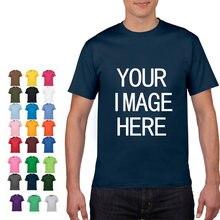 Yykatele – T-shirt à manches courtes, en coton, couleur unie, col rond, personnalisé, avec votre propre Design imprimé, nouvelle collection 2021