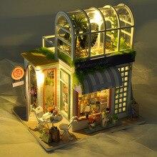 Миниатюрная кукла «сделай сам» с буквами цветов, садовый домик, игрушки для взрослых и детей, подарки на день рождения, Рождество, День свято...