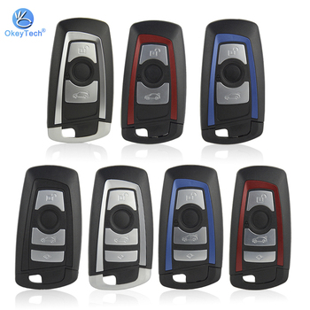 OkeyTech Replacement Smart Key Shell For BMW CAS4 F 3 5 7 Series E90 E92 E93 X5 F10 F20 F30 F40 Remote Car Key Case 3/4 Buttons image