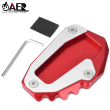 JAER CNC Foot Side Stand Extension Pad Kickstand Plate Enlarge For Ducati Monster 696 795 796 821 Hypermotard 821 939 Supersport(China)