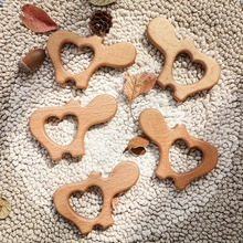 Lets Make Beech Olive Oil 50pcs Wooden Animal Elephant Koala Butterfly Hippo Hedgehog Bird Cat Baby Teether Bpa Free Toys