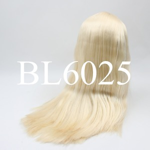 Image 2 - blyth doll icy wig only rbl scalp and dome fat hair, golden blonde black straight blue orange hair