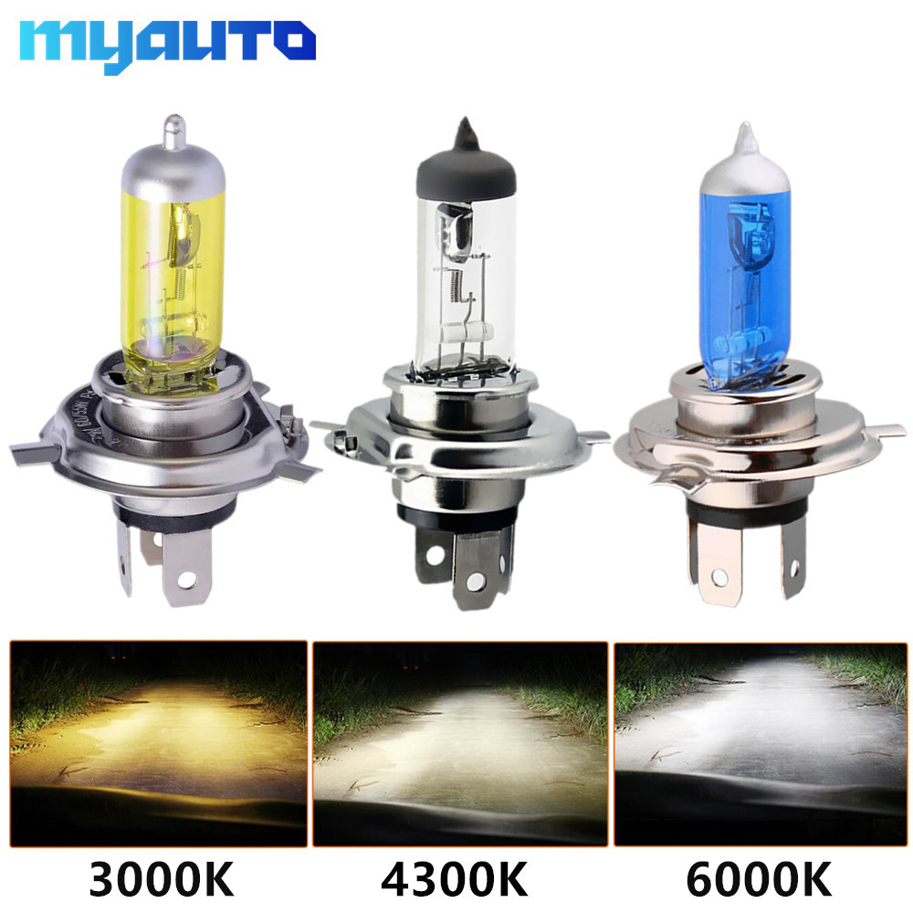Car Light H4 H7 Auto Halogen Lamps Bulb Fog Lights 100W 3000K 4300K 6000K 12V Motercycle Car Halogen Bulb Ampoule Voiture