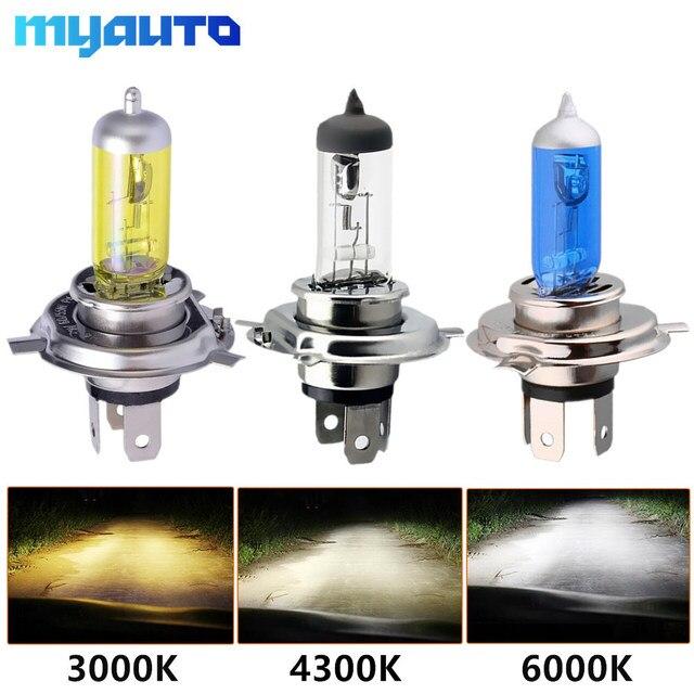 רכב אור H4 H7 אוטומטי הלוגן מנורות הנורה ערפל אורות 100W 3000K 4300K 6000K 12V motercycle רכב הלוגן הנורה אמפולה Voiture