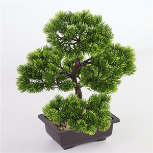 Image 2 - Simülasyon çam iğneleri cypress bitkiler bonsai sahte çiçek yapay bitkiler tencere iç ev oturma odası yaratıcı dekorasyon