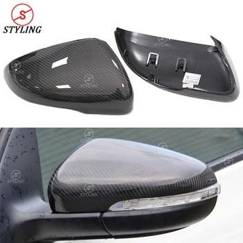 สำหรับ Volkswagen สำหรับ GTI Golf6 จริงคาร์บอนไฟเบอร์ฝาครอบ Golf 6 R20 กระจกมองหลังเปลี่ยน 2008 2009 2010 2011 2012