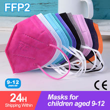 10-100 pces kn95 máscara crianças 5 camada ffp2 mascarillas fpp2 aprovado higiênico crianças máscara protetora reutilizável mascarillas niño