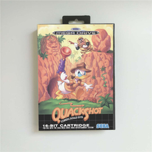 Quackshot starring Donald Duck   EUR Cover With Retail Box 16 Bit MD Game Card for Megadrive Genesis Video Game Console