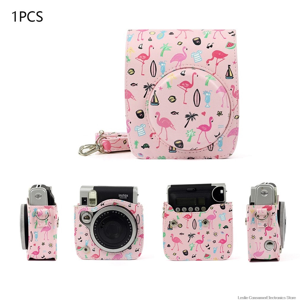 Camera Case Bag Compatible PU Leather for Instax for Fujifilm Instax Mini 7s 7c Instant Camera for Polaroid PIC-300 Camera image