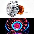 Мото rcycle фары 12 в 10 Вт 15 Вт рабочая лампа для вождения 7500 К прожектор мото фары красочные мото rcycle вспомогательная точечная противотуманная ...