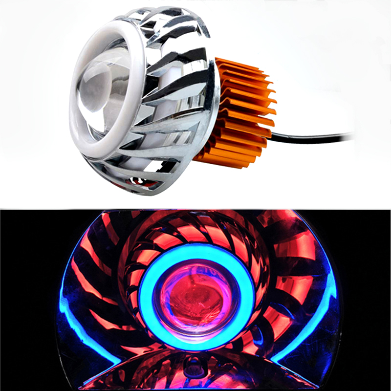 Motorcycle Headlights 12V 10w 15w Work Driving Lamp 7500k Spotlight Moto Headlamp Colorful Motorcycle Auxiliary Spot Fog Lamp